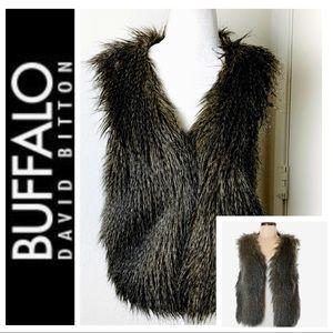 BUFFALO DAVID BITTON Vegan Fur VEST Medium